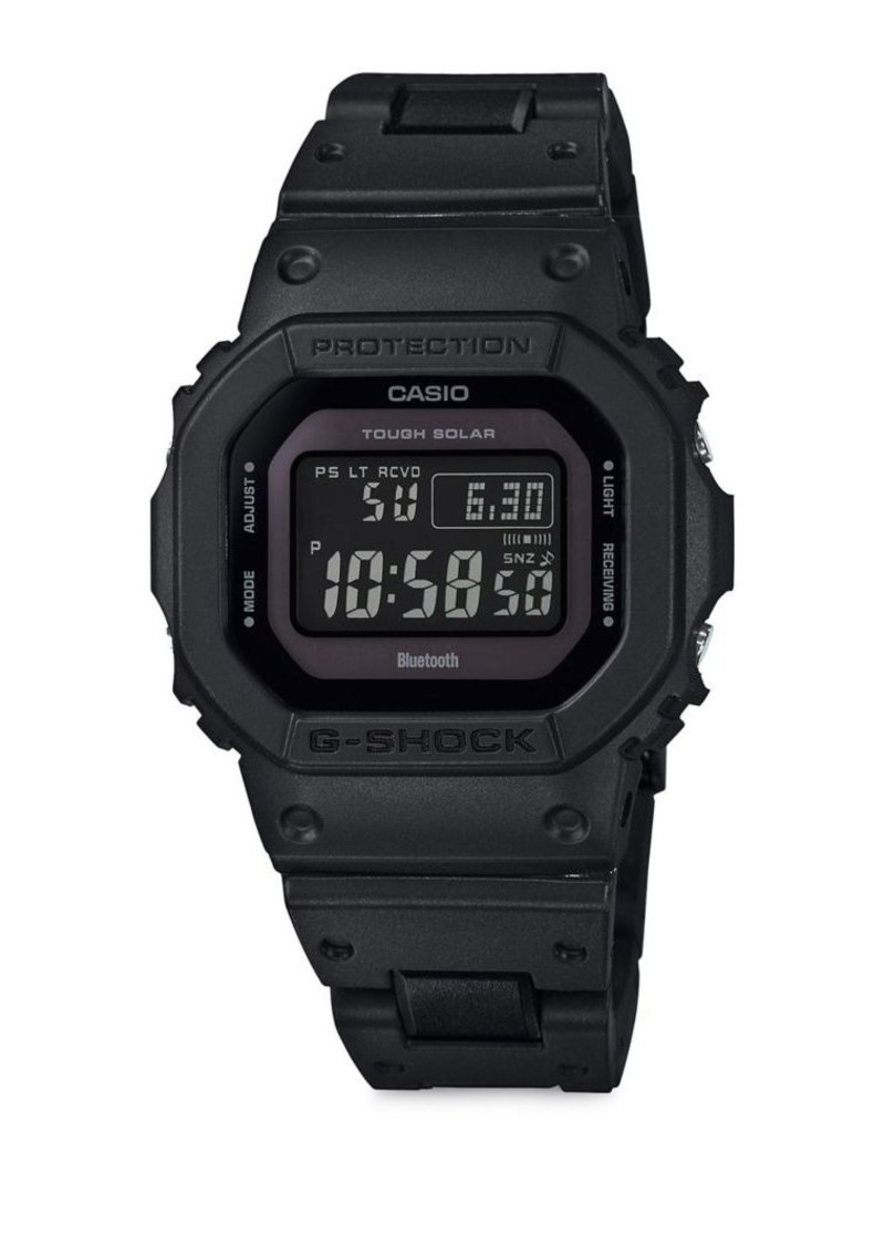 G-Shock Stainless Steel and Resin Digital Watch