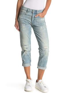 G-Star 3301 Distressed Mid Rise Boyfriend Jeans