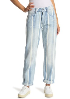 G-Star 3301 Striped Mid Rise Boyfriend Jeans
