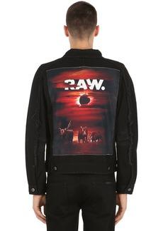 G Star Raw Denim D-staq Eclipse Printed Denim Jacket