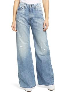 G-Star RAW Deck Ultra High Waist Wide Leg Jeans (Sun Faded Ice Fog Destroyed)
