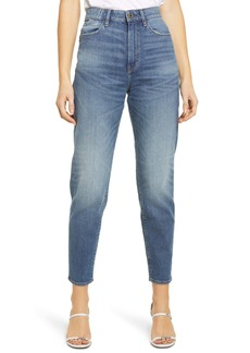 G-Star RAW Janeh Ultra High Waist Ankle Mom Jeans (Faded River Blue)