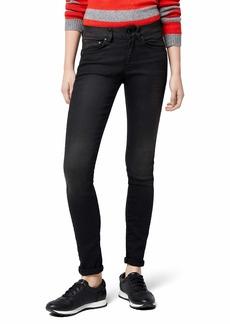 G-Star Raw Women's 3301 Contour High Rise Skinny Jean in Dark Aged Black