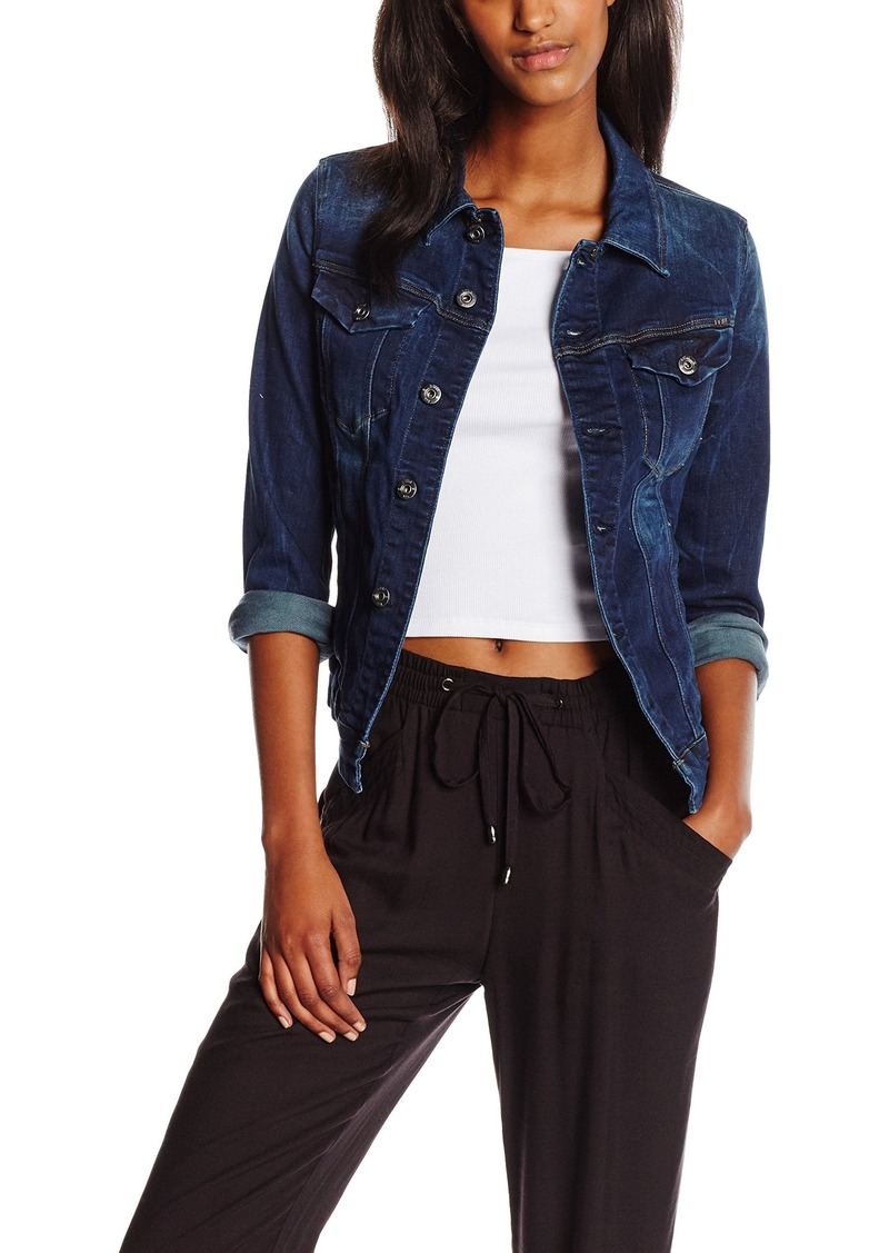 G-Star Raw Women's 3301 Denim Jacket in Neutro Stretch Denim