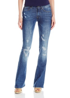 G-Star Raw Women's 3301 High Rise Flare Leg Jean in Hadron Stretch Denim