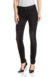 G-Star Raw Women's 3301 High Rise Skinny Fit Jean In Slander Black Superstretch   27