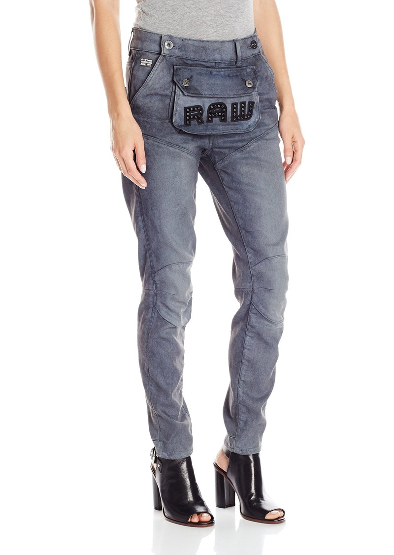 G-Star Raw Women's 5620 3D Pouch High Boyfriend Fit Jean in Loomer Grey Stretch