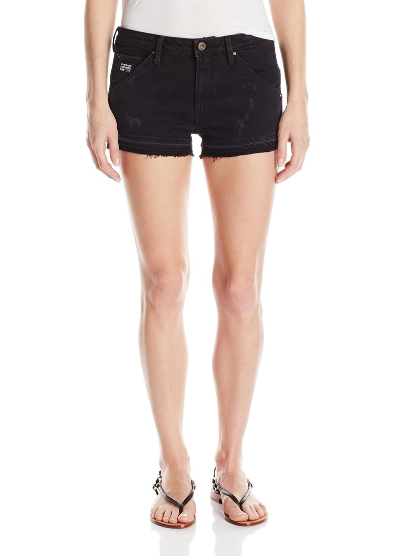 G-Star Raw Women's 5620 Boyfriend Ripped Eva Shaw Skinny Black Edington Stretch Jean