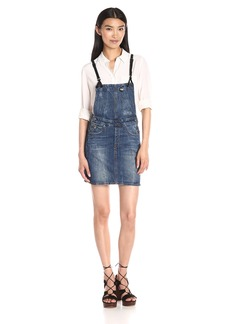 G-Star Raw Women's Arc Dungaree Short Dress in Hadron Stretch Denim  Aged Antic