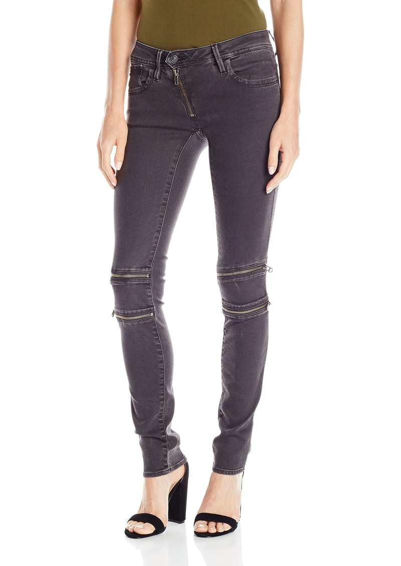 G-Star Raw Women's Lynn Mid Rise Custom Skinny Fit Colored Jean in Slander Superstretch Overdye  25