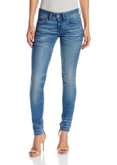 G-Star Raw Women's Lynn Mid Rise Skinny Fit Jean In Frakto Superstretch