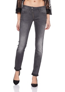 G-Star Raw Women's Lynn Zip Midrise Skinny Slander Grey Super Stretch Jean  25/32