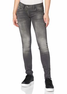 G-Star Raw Women's Lynn Zip Midrise Skinny Slander Grey Super Stretch Jean  24/32
