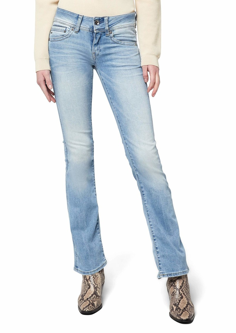 G-Star Raw Women's Midge Saddle Mid Rise Bootleg Fit Jean in Brantley Stretch