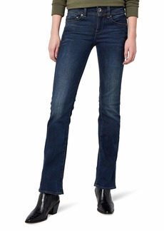 G-Star Raw Women's Midge Saddle Mid Rise Bootleg Fit Jean in Neutro Stretch