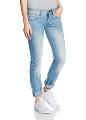 G-Star Raw Women's Midge Saddle Mid Rise Straight Leg Jean in Brantley Stretch