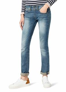 G-Star Raw Women's Midge Saddle Mid Rise Straight Leg Jean in Maidu Stretch