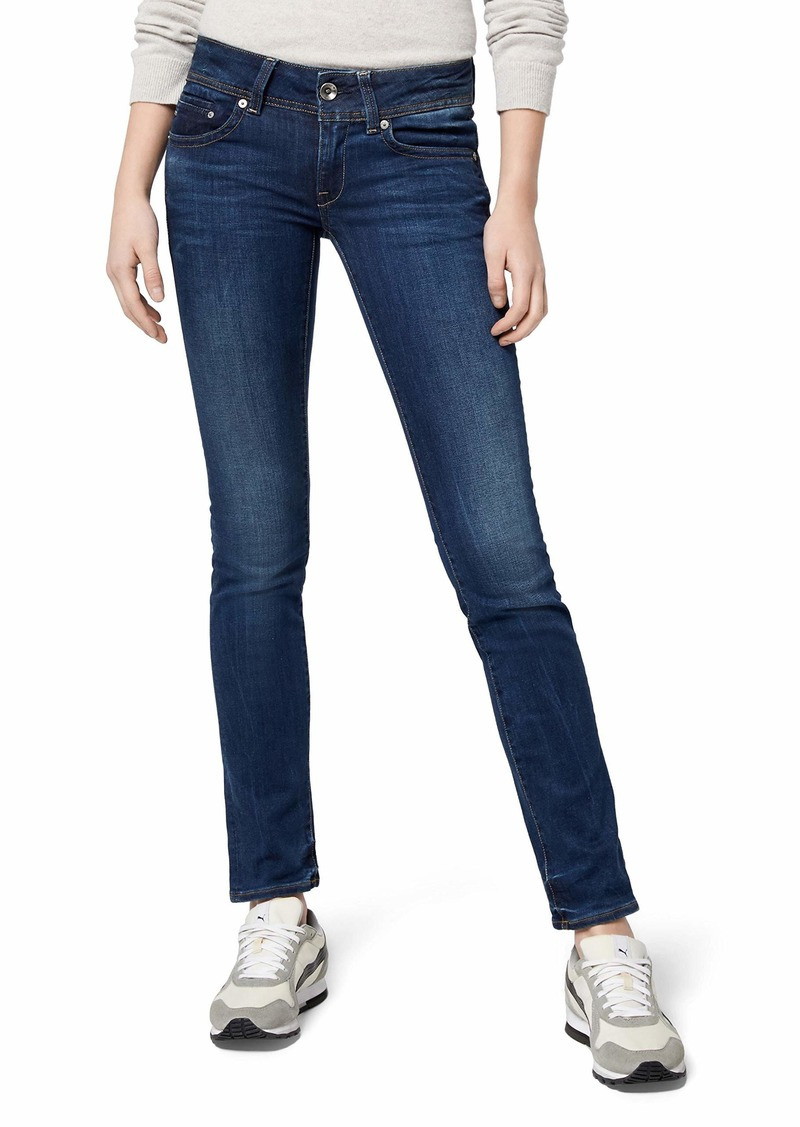 G-Star Raw Women's Midge Saddle Mid Rise Straight Leg Jean in Neutro Stretch