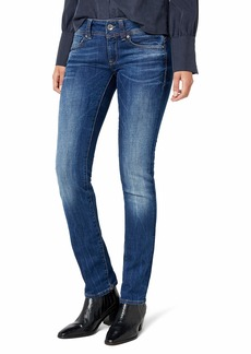 G-Star Raw Women's Midge Saddle Mid Straight Jeans in Yzzi Stretch Denim