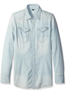 G-Star Raw Women's Tacoma Straight Shirt Weight Boll Denim