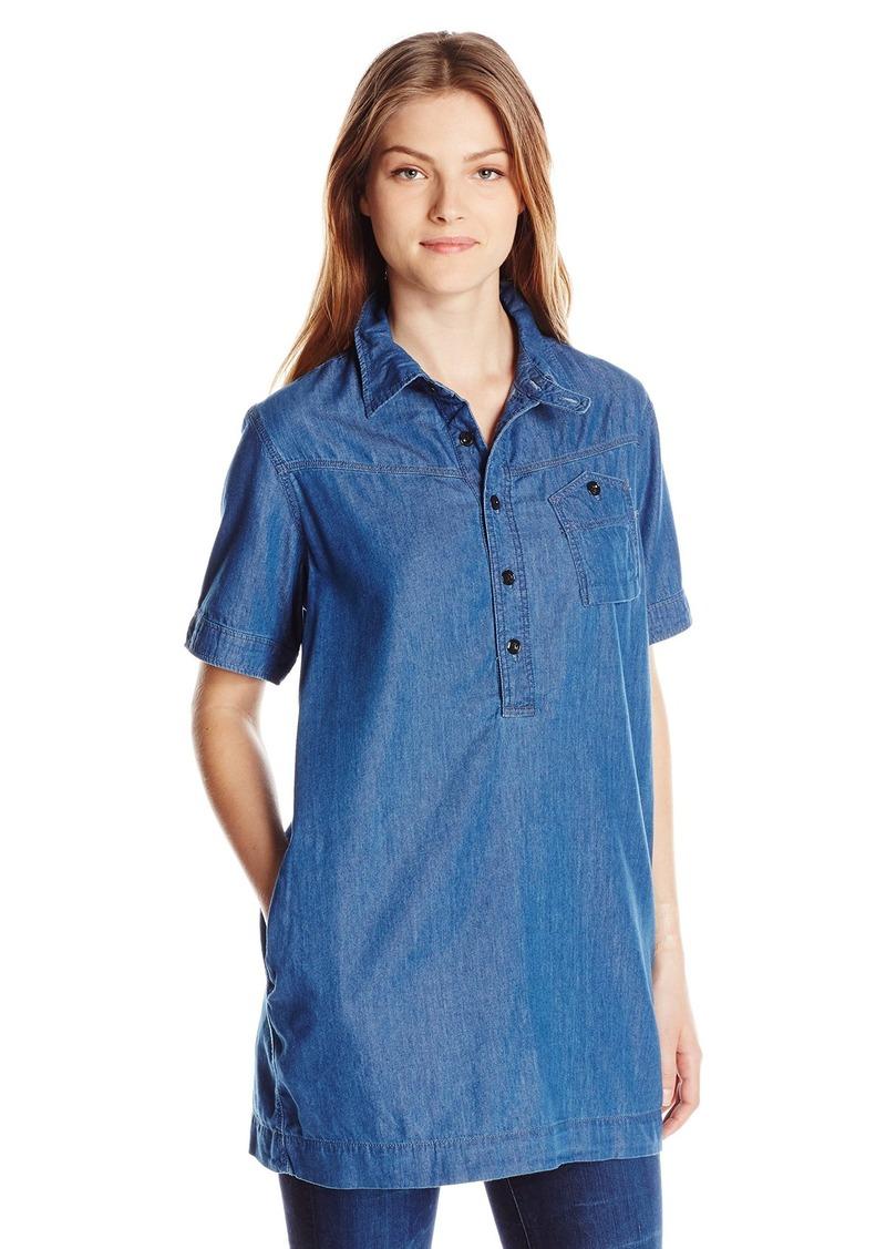 G-Star Raw Women's Raw Utility Short Sleeve One Pocket Long Bf Shirt