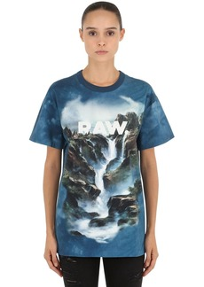 G-Star Loose Cyrer Water Printed Jersey T-shirt