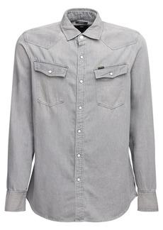 G Star Raw Denim 3301 Cotton Denim Slim Shirt