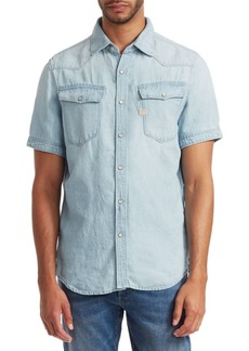 G Star Raw Denim 3301 Denim Short-Sleeve Shirt
