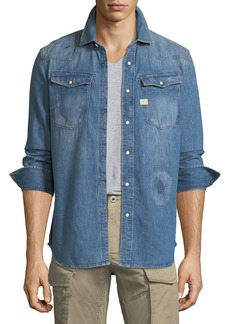 G Star Raw Denim 3301 Graft Denim Shirt