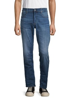 G Star Raw Denim 3301 Medium Rise Straight Tapered Jeans