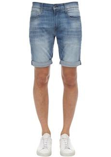G Star Raw Denim 3301 Slim Cotton Denim Shorts