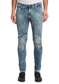 G Star Raw Denim 3D Zip Knee Super Slim Jeans