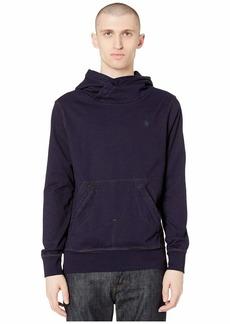 G Star Raw Denim Aero Indigo Patched On Pocket Hooded Sweatshirt Long Sleeve