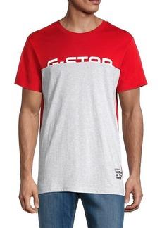 G Star Raw Denim Baron Organic-Cotton Colorblock T-Shirt