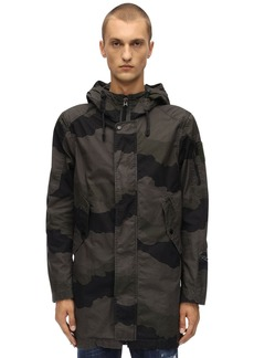 G Star Raw Denim Batt Zip Cotton Canvas Camo Parka
