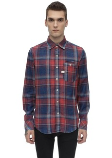 G Star Raw Denim Briston 1 Pocket Slim Check Cotton Shirt