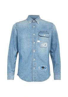 G Star Raw Denim Bristum Distressed Denim Shirt