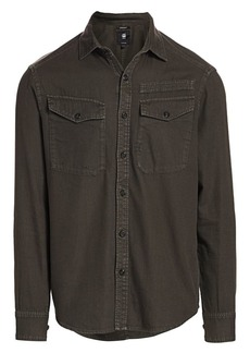 G Star Raw Denim Button-Down Pocket Shirt