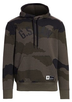 G Star Raw Denim Camo Cotton Hoodie