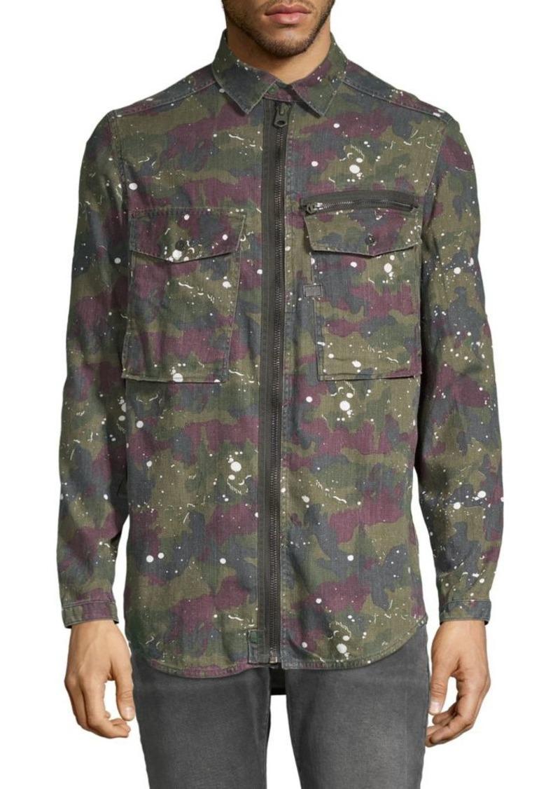 G Star Raw Denim Camouflage Full-Zip Overshirt