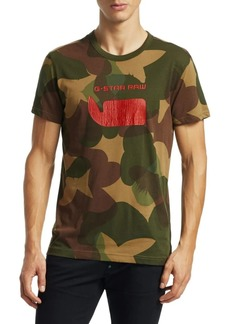 G Star Raw Denim Camouflage Graphic Tee