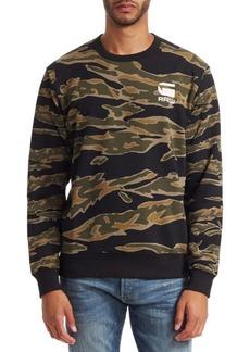 G Star Raw Denim Camouflage Logo Sweatshirt