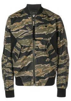 G Star Raw Denim camouflage print bomber jacket