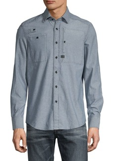 G Star Raw Denim Chambray Long-Sleeve Shirt