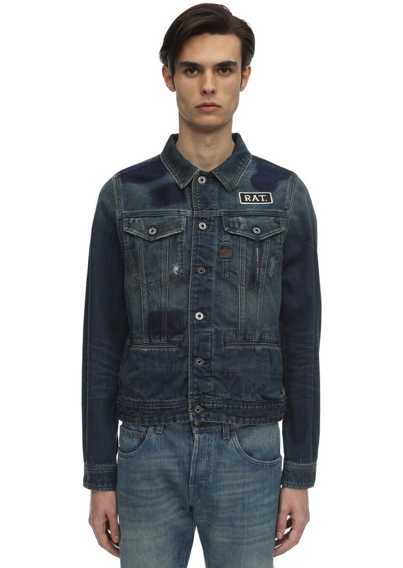 G Star Raw Denim Cny D-staq Slim Cotton Denim Jacket