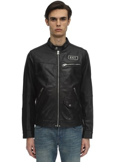 G Star Raw Denim Cny Studded Leather Jacket