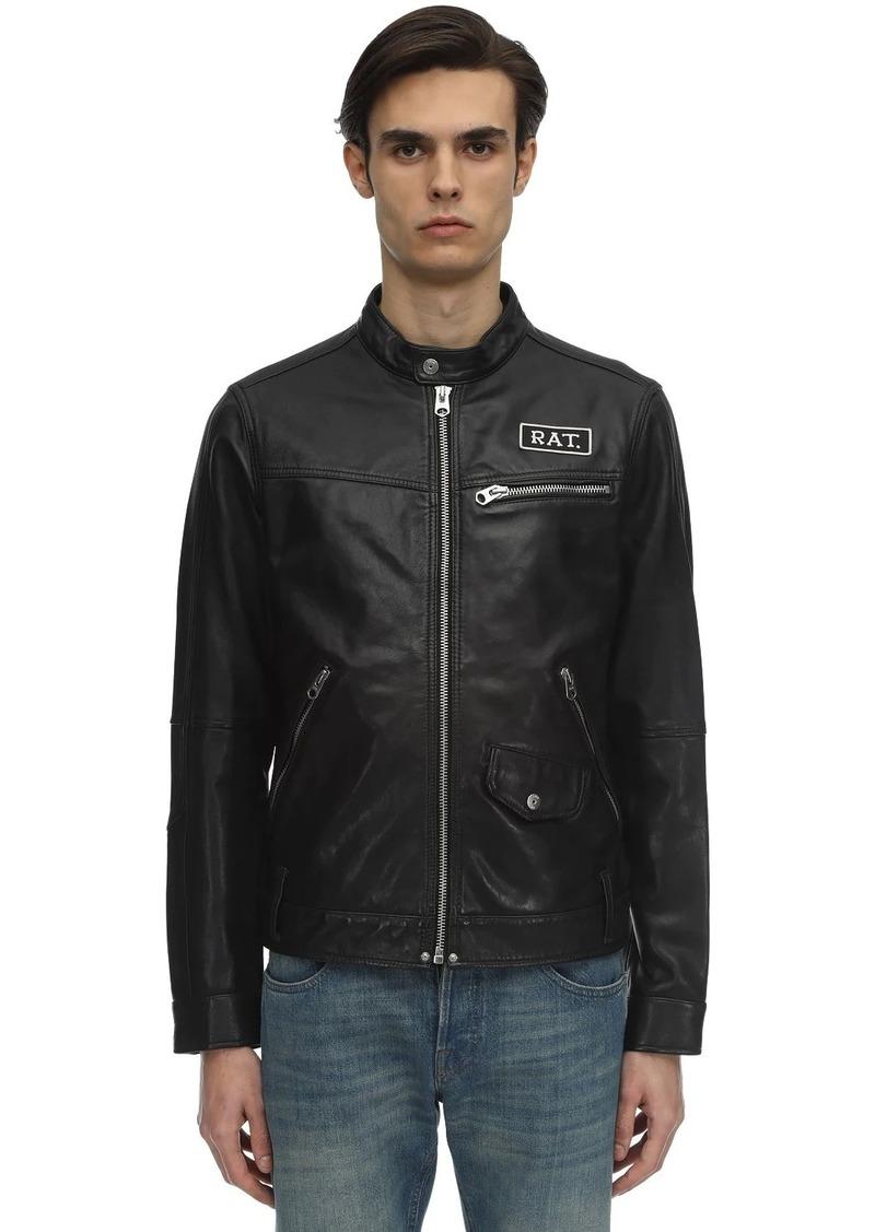 G Star Raw Denim Cny Studded Leather Jacket