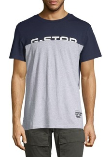 G Star Raw Denim Colorblock Graphic T-Shirt
