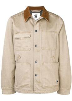 G Star Raw Denim contrast collar denim jacket
