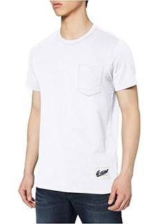 G Star Raw Denim Contrast Pocket Round Neck T-Shirt